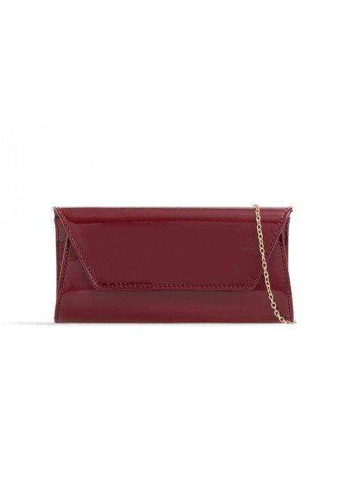 Listová kabelka Kendra bordová