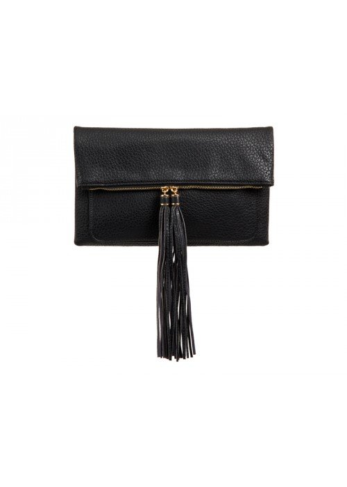 Listová kabelka Tassy čierna