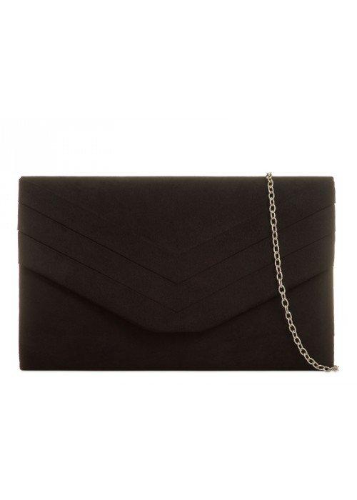 Čierna semišová kabelka Siona