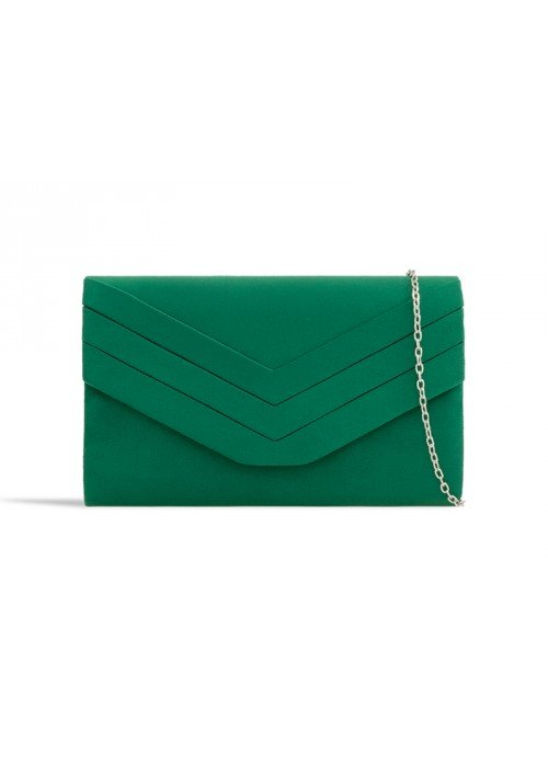 Zelená semišová kabelka Siona
