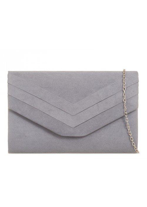 Sivá semišová kabelka Siona