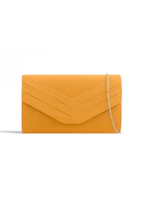 Horčicová semišová kabelka Siona