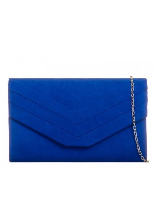 Kráľovská modrá semišová kabelka Siona