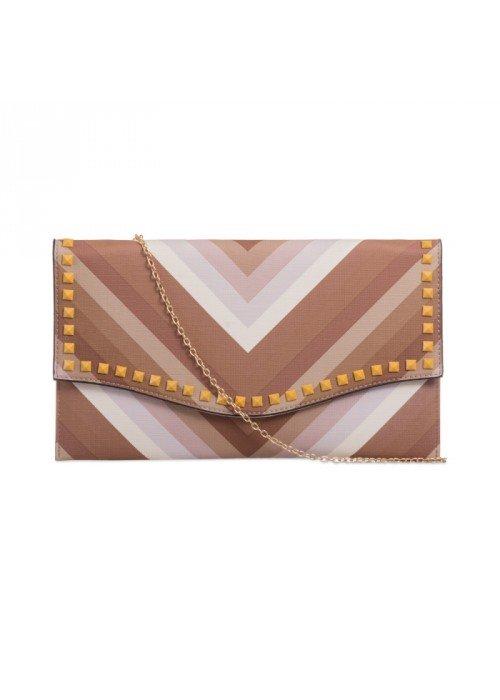 Listová kabelka Valentina hnedá
