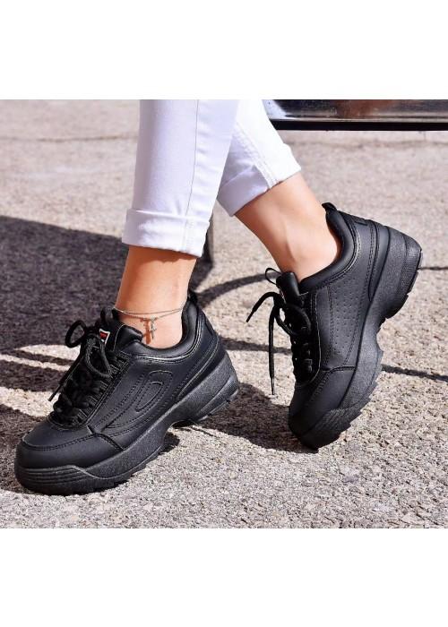 Štýlové botasky Filla čierne
