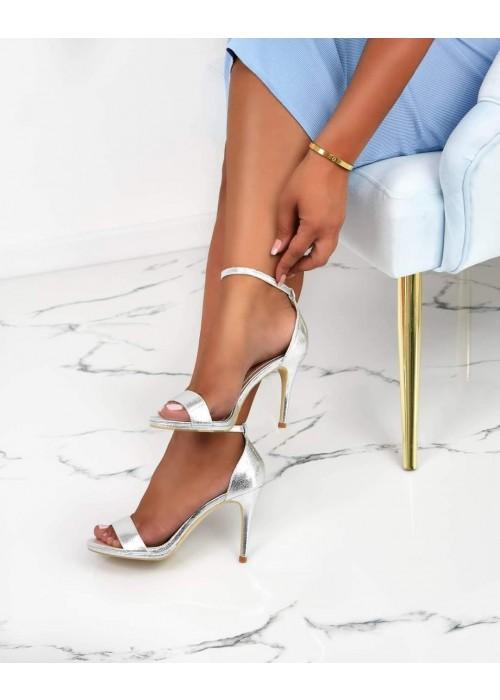 Strieborné sandále Anissa