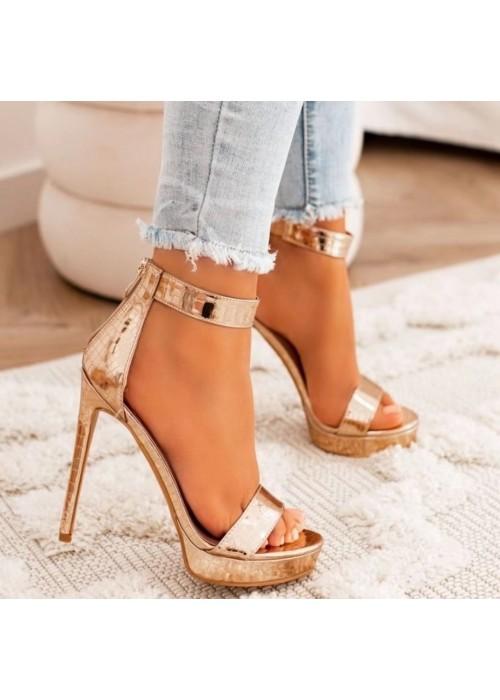 Rose gold sandále Kristin
