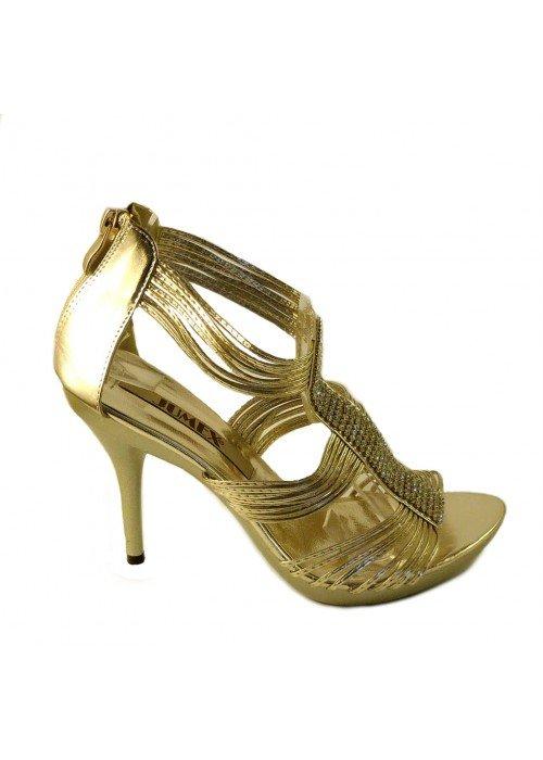 Spoločenské sandále Kassia zlaté