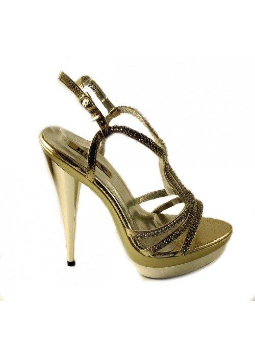 Spoločenské sandále Tracy zlaté