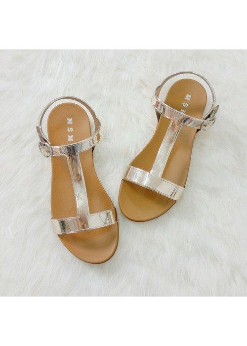 Zlaté zrkadlové sandále Melissa