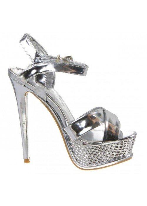 Sandále Rennie strieborné