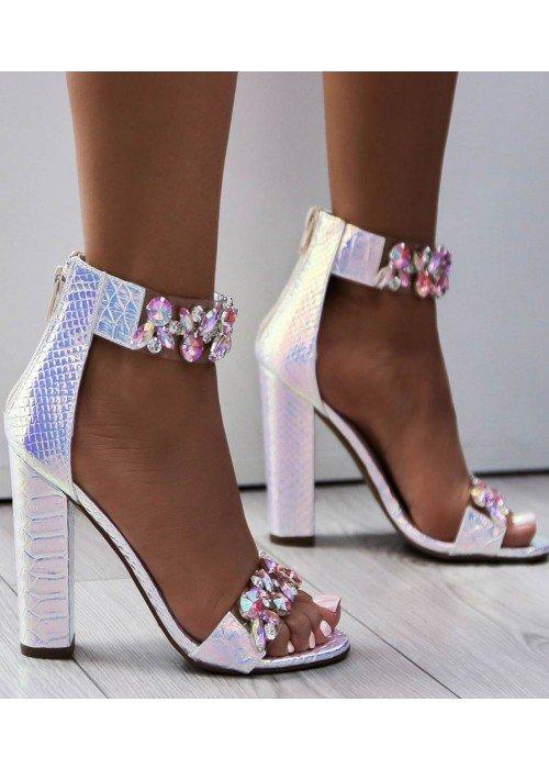 Luxusné sandálky s kryštálikmi Sally