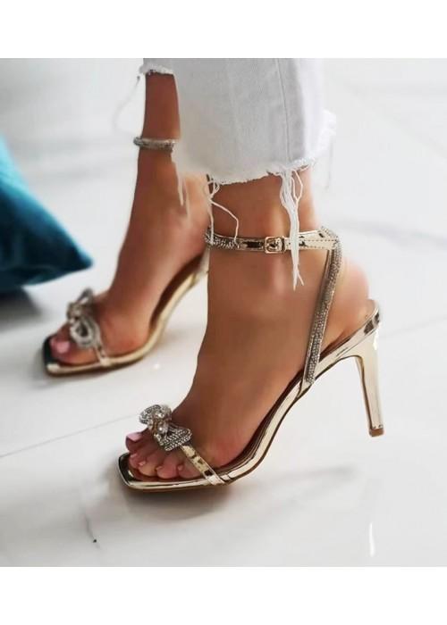 Zlaté spoločenské sandále Ivi
