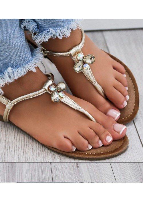 Zlaté sandálky Swan