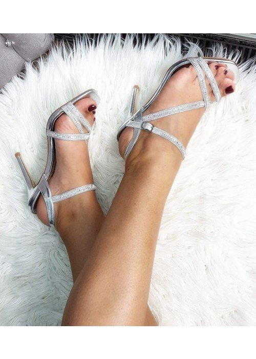 Strieborné sandále Glam