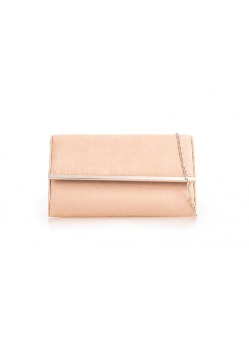 Semišová listová kabelka Morgan béžová