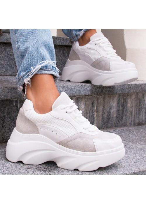 Štýlové botasky Patty biele