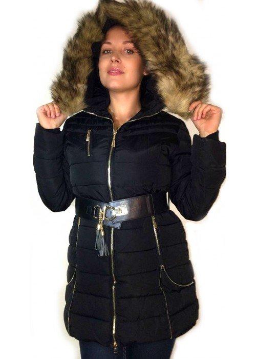 Zimná bunda s mohutnou kožušinkou