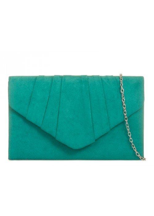 Semišová listová kabelka Milla zelená