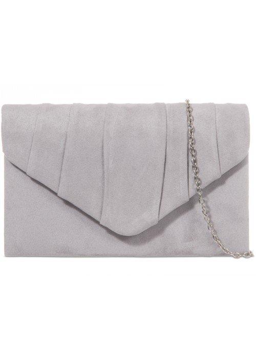 Semišová listová kabelka Milla sivá