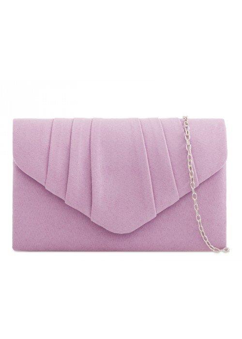 Semišová listová kabelka Milla fialková