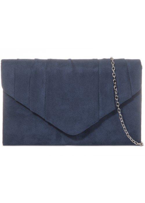 Semišovám listová kabelka Milla námornícka modrá