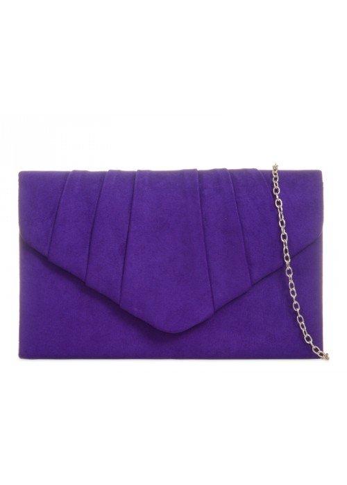 Semišová listová kabelka Milla fialová
