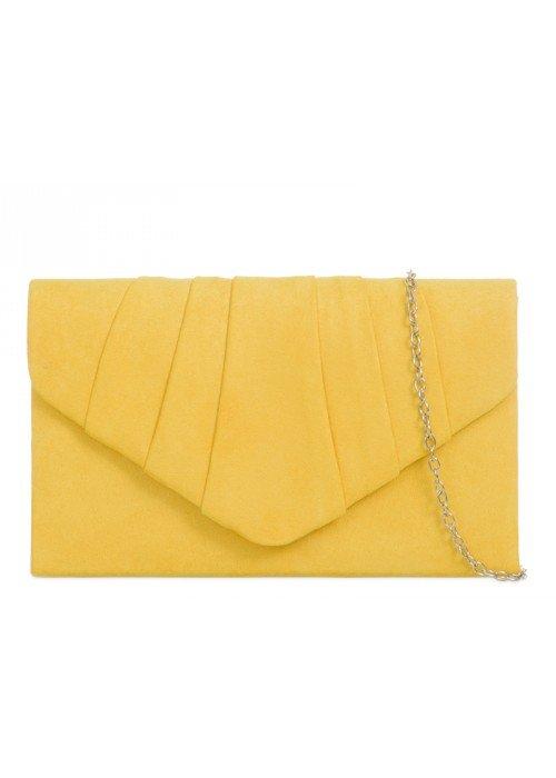 Semišová listová kabelka Milla žltá