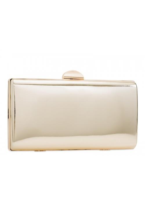 Zlatá zrkadlová kabelka v pevnom obale