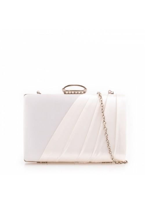Biela kabelka v pevnom obale