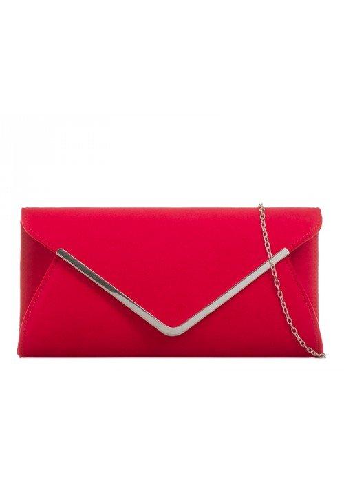 Semišová listová kabelka Mona červená