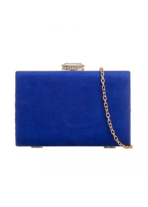Semišová kabelka v pevnom obale Zoe kráľovská modrá