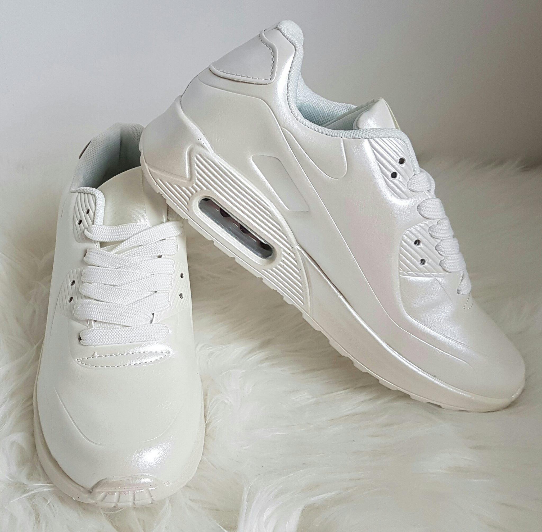 710d3bc269 botasky v štýle air max perleťovo biele - Divalli.sk