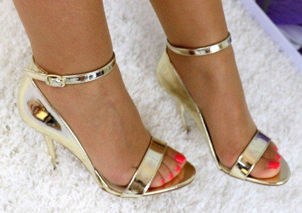 5c3ba1ffe877 Zlaté zrkadlové sandále Diva · Kliknite pre zväčšenie obrázku