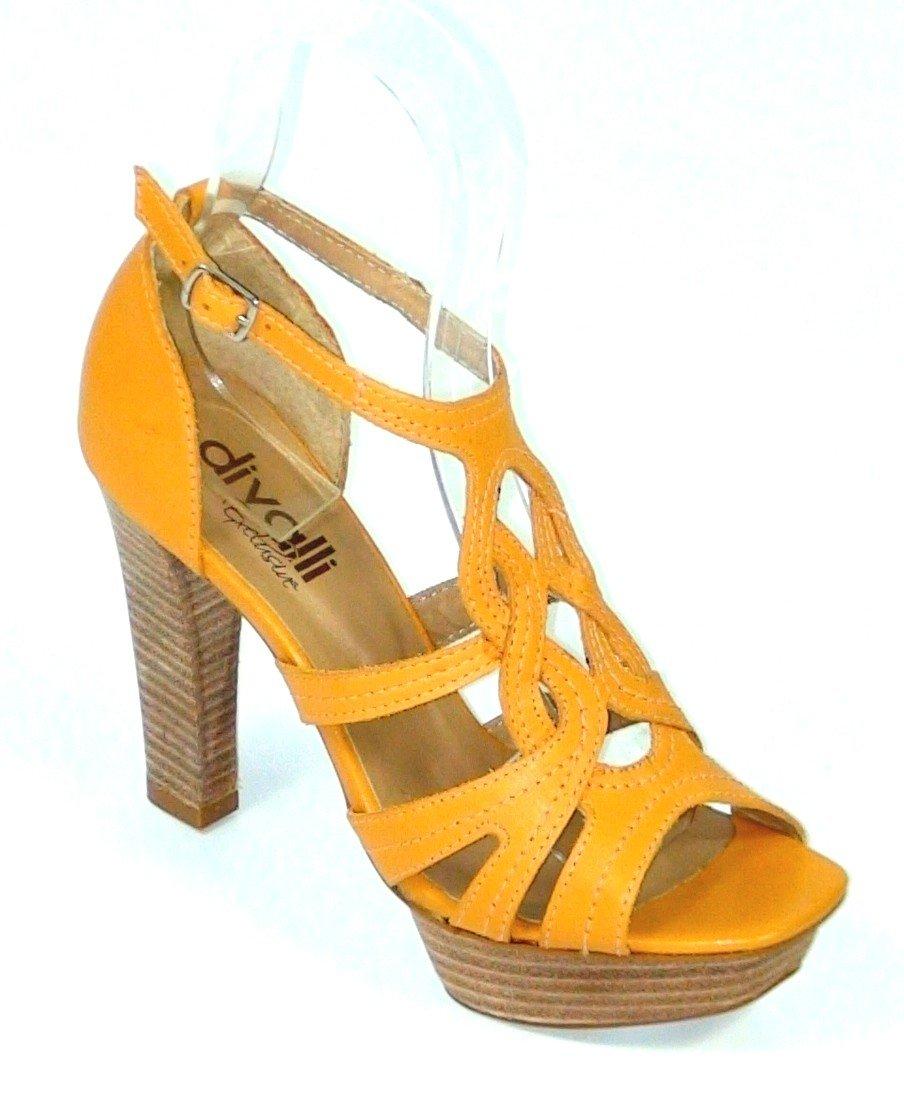 8a05440db8 Kožené sandále Veronica žlté - Divalli.sk