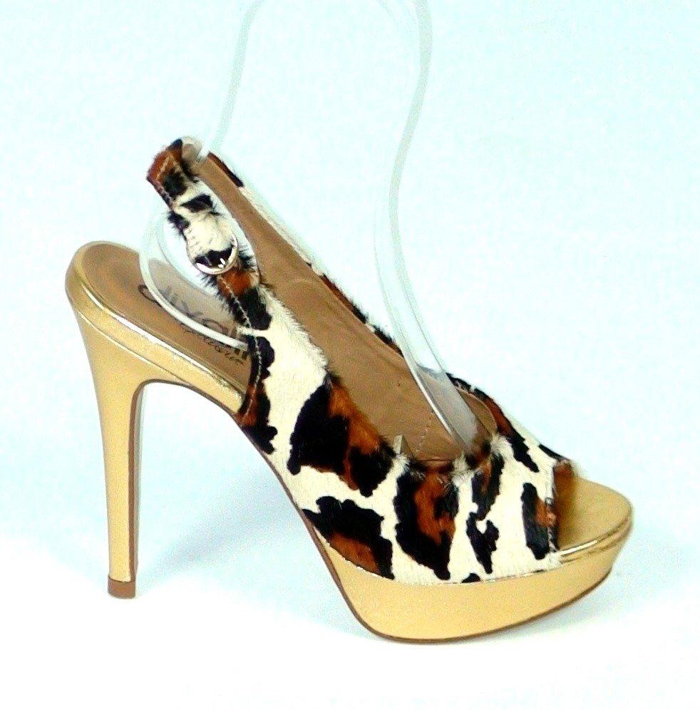 57265979de15 Kožené sandále Leo zlaté · Kliknite pre zväčšenie obrázku