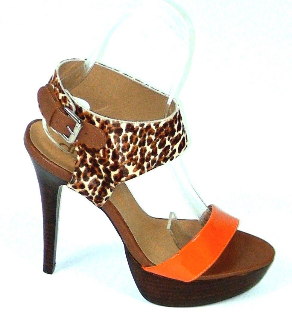 09776c1a6417 Kožené sandále Leopardo oranžové - Divalli.sk