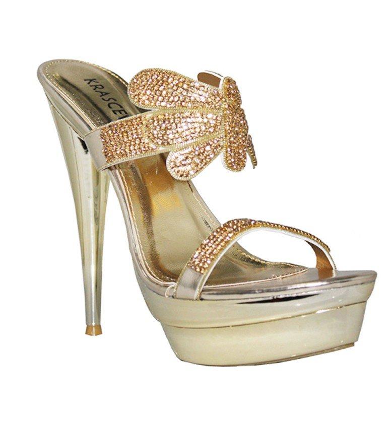 a9b1f050aa65 Spoločenské sandále Fiona zlaté · Kliknite pre zväčšenie obrázku