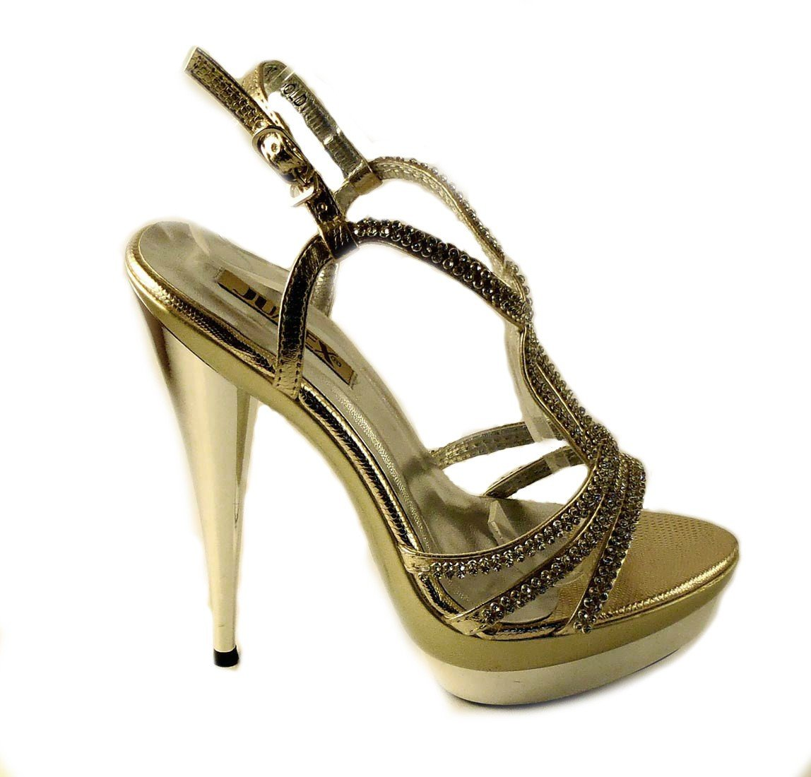 9022f915a8a0 Spoločenské sandále Tracy zlaté · Kliknite pre zväčšenie obrázku