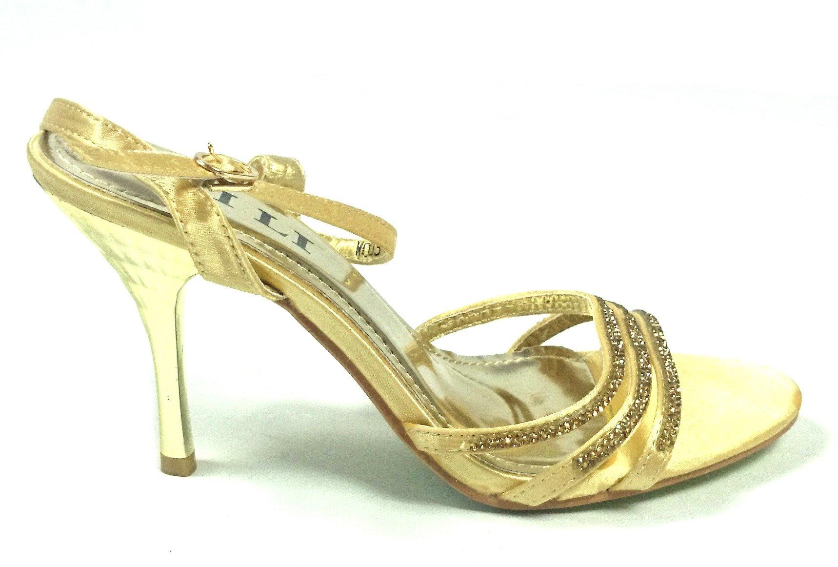 02f7fa97097a Spoločenské sandále Mery zlaté · Kliknite pre zväčšenie obrázku