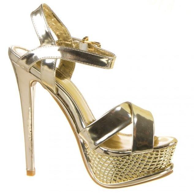 ccf68370bace Sandále Rennie zlaté · Kliknite pre zväčšenie obrázku