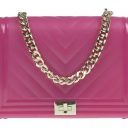 Gumená kabelka Channy ružová