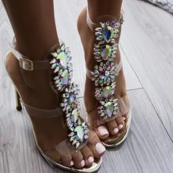 Luxusné sandálky s kamienkami Surri zlaté