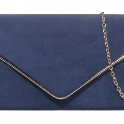 Semišová listová kabelka Sofia námornícka modrá