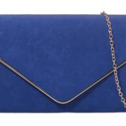 Semišová listová kabelka Sofia kráľovská modrá