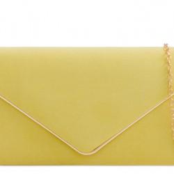 Semišová listová kabelka Sofia žltá