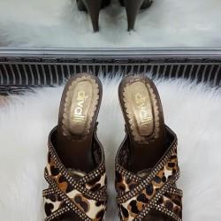 Kožené dreváky divalli 206-30 leopard
