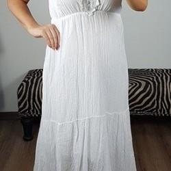 Biele maxi šaty Afrodite