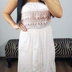 Ružové maxi šaty Madeira