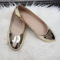 Zlaté zrkadlové balerínky Lotta